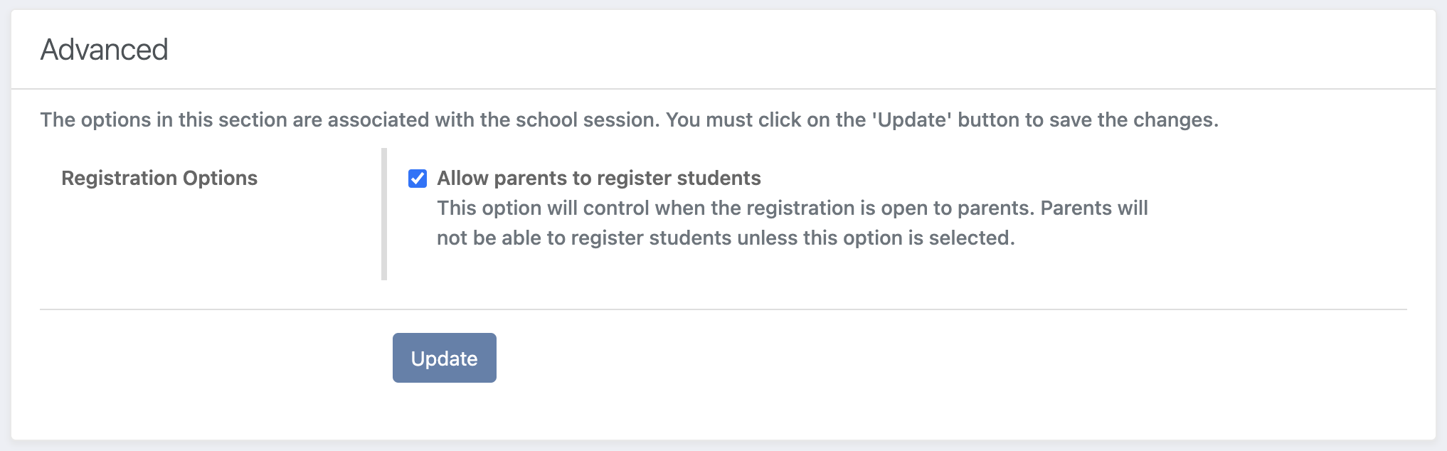 Enable Registration